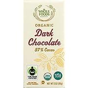 Whole Foods Market, Organic Dark Chocolate Bar (57% Cacao), 3 oz