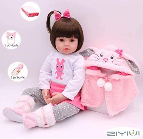 """ZIYIUI 22"""" Reborn Bambino Bambole in Silicone Morbido Bambola Reborn Femmine 55 Centimetri Cheap Bambola Reborn Reborn Toddler Giocattolo"""