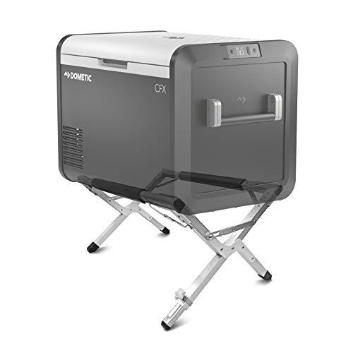 DOMETIC Kühlbox-Ständer - für Ihre Outdoor Camping-Küche: ✓sicher ✓hygienisch ✓rückenschonend - stabiler Kühlschrank-Ständer bis 80 kg Tragfähigkeit, variable Höhen-Einstellung