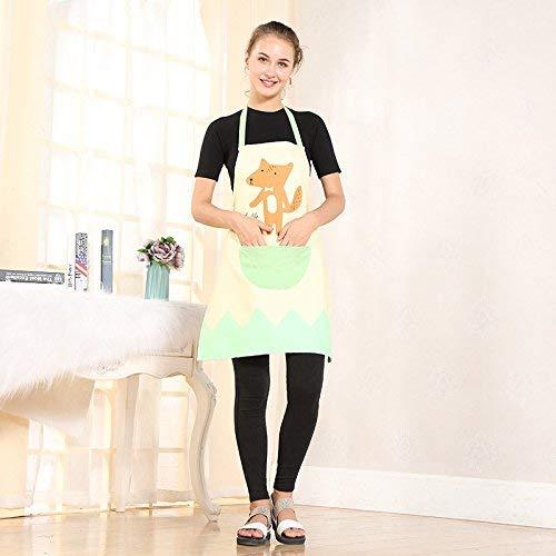 ZXL Keuken Cartoon Schort Creative katoen en linnen half lange blouse huiswerk Overalls (kleur: 1, grootte: 71 * 58)