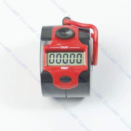 PINH-lang Mini 5 Digit LCD Elektronische Digital Golf Finger Armband Zähler Neu