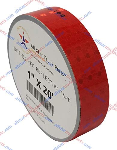 Red Reflective Tape DOT C2 Conspiciuity Tape COMMERCIAL ROLL Automobile Car Truck Boat Trailer product image