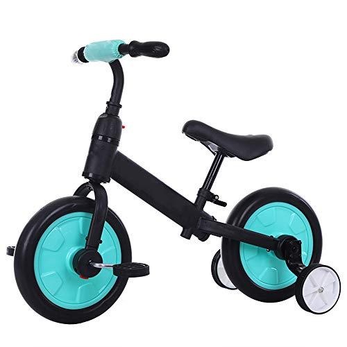 Kinder Fahrrad Kinder Laufrad Lauflernrad Kinder 2 in 1 Balancen-Fahrrad 10 Zoll Hilfsrad Tricycle Removable Pedal Baby-Wanderer Reiten Fahrrad-Fahrspielwaren für Kinder,Blau