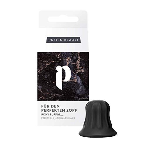 pony puffin Original Schwarz - Onyx Für Alle Haarfarben Fülliger Pferdeschwanz Frisurenhilfe Zopf Hilfe Haarstyling