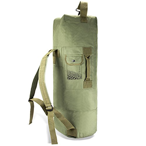 Black Snake US Seesack Duffle Bag Transportsack mit Doppelgurt - Oliv - 80 Liter