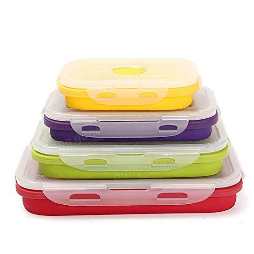 Subobo Kaminlüfter 4 Zusammenklappbare Lunchboxen Tragbare Küchenbehälter Für Lebensmittel Für Holz/Holzofen/Kamin