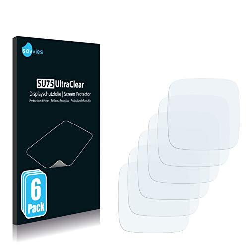 Savvies 6X Schutzfolie kompatibel mit Omate TrueSmart Smartwatch Bildschirmschutz-Folie Ultra-transparent
