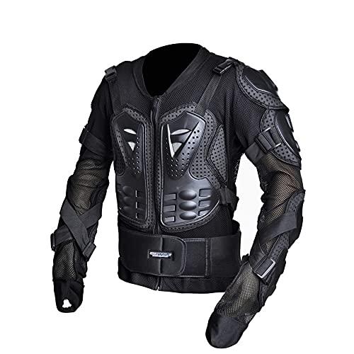 CYzpf Chaqueta de Moto Ropa Ligera y Transpirable Equipo Protección Abrigo Informal Motorcycle Jackets Exteriores Accesorios para Hombres,Black,M