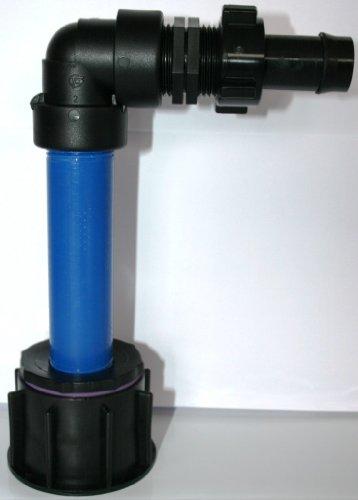 AME90R1384 _ 288 Tube d'écoulement avec tube plastique DN32, 100 mm AG 1 Douille \