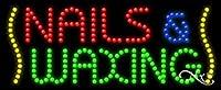 11x 27x 1インチNails & Waxingアニメーション点滅LEDウィンドウサイン