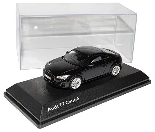 Kyosho A-U-D-I TT 8S Coupe Schwarz 3. Generation Ab 2014 1/43 Modell Auto mit individiuellem Wunschkennzeichen