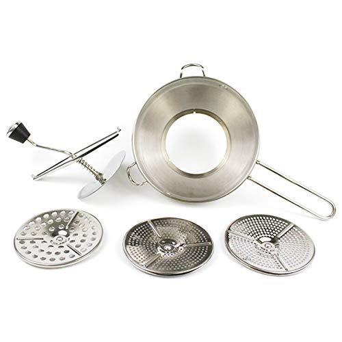 CUHAWUDBA Kartoffel aus Edelstahl, für Marmelade, Gemüse, Baby, manuelles Schleifen aus Stahl, zerkleinert das Mahlwerk
