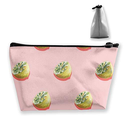 Multi-Functional Print Trapezoidal Storage Bag for Female Lemon Pattern Design
