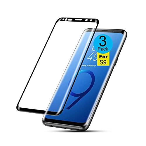 AMNIE [3 Stück] Panzerglas Schutzfolie für Samsung Galaxy S9, [Kratzresistent] [Fingerabdruckresistent] Flexible Fiberglasschutzfolie Displayschutzfolie für das Samsung Galaxy S9