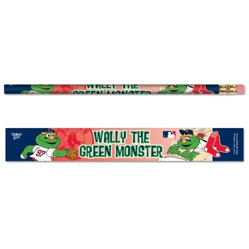 Boston Red Sox Wally the Green Monster 6 Pack of Pencils