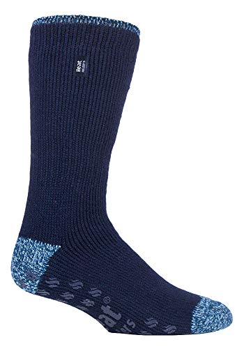 HEAT HOLDERS - Hombre invierno gordos antideslizantes calcetines estar por casa (39-45 Eur, Navy (Siskin))