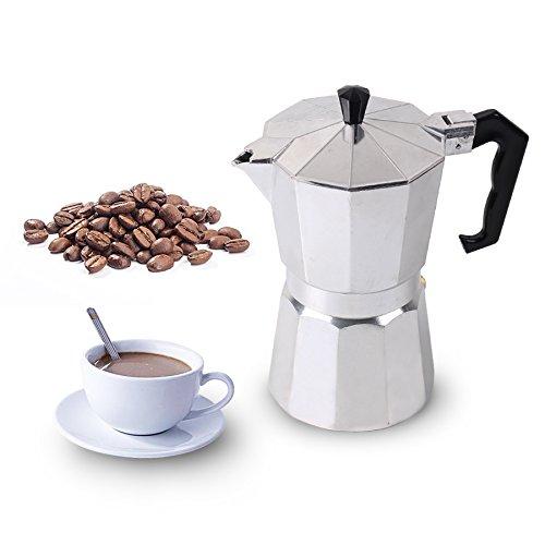 Best Bargain JJCFM Coffee Machine, Homeleader Coffee Makers Italian Top Moka Espresso Cafeteira Perc...