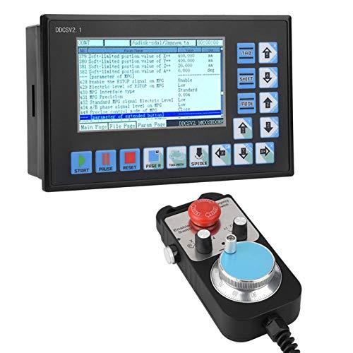 Controlador Fuera de línea, Controlador de máquina de Grabado CNC USB, Eqquiooed Duradero con Volante, Máquina fresadora de máquina de Grabado para la Industria de Sistemas Fuera de línea