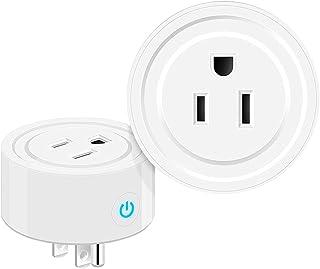 Enchufe Inteligente Wifi, Smart Plug Compatible Con Amazon Alexa, Google Home y IFTTT. Control de Voz, Temporización, Aper...