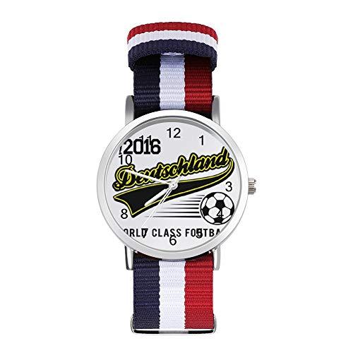 Euro 2016 Football Alemania Deutschland - Reloj de pulsera trenzado, diseño de...