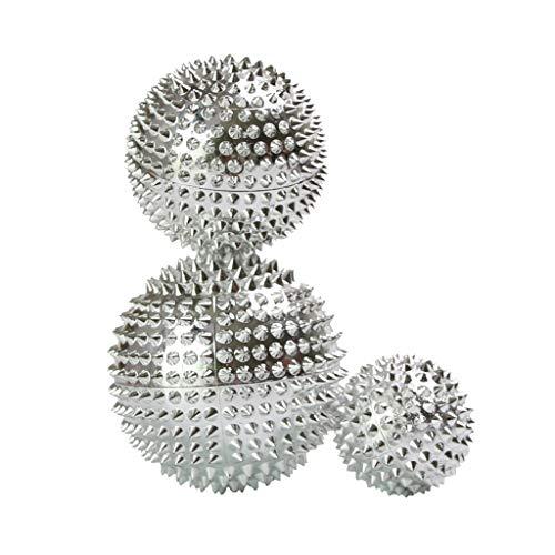D DOLITY 3 Stück Magnet Massageball Akupressurkugeln Igelball Fußmassage Faszienball für Fußgewölbe & Hacken, Stressreduzierung & Entspannung durch Triggerpunkt-Therapie inkl. Verschiedene Maße