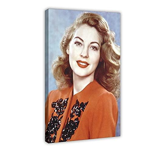 Vintage Beauty Poster Ava Lavinia Gardner 20 Leinwand Poster Wandkunst Dekor Druck Bild Gemälde für Wohnzimmer Schlafzimmer Dekoration Rahmen: 50 × 75 cm
