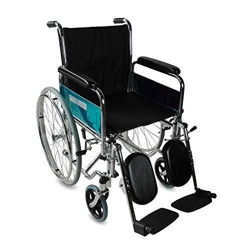 Mobiclinic, Modell Partenón, Rollstuhl, Faltrollstuhl für Ältere und Behinderte, selbstfahrend, leichter Rollstuhl, Leichtgewicht, Armlehnen, Fußstützen, Stahl
