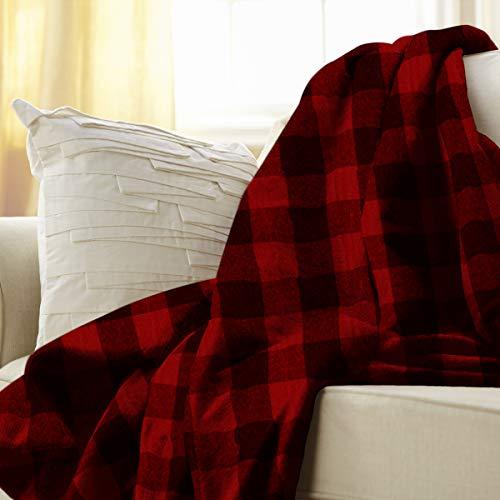 Sunbeam Heated Throw Blanket, Red Plaid