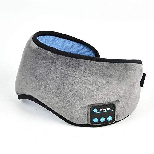 Hancoc 5.0 Anteojos Bluetooth Inalámbrico Inteligente Casual Dormir Apagón Gafas Escuchar Música Contestar El Teléfono Multifunción Gris
