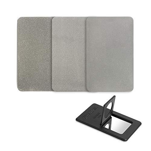 SHARPAL 116N Credit Card Size Diamond Sharpening Stone Knife Sharpener丨Home and Garden Tool Sharpener (3-Pack: Coarse/Fine/Extra Fine)