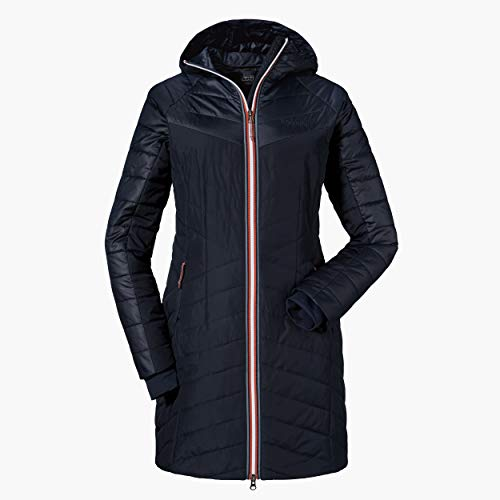 Schöffel Damen Thermo Coat Orleans warme Thermojacke, Blau (Navy blazer), 38