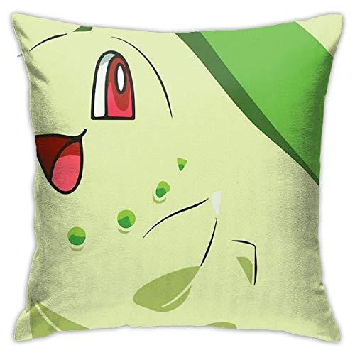 Ahdyr Chikorita Cushion Throw Pillow Cover Decorative Pillow Case For Sofa Bedroom 18 X 18 Inch