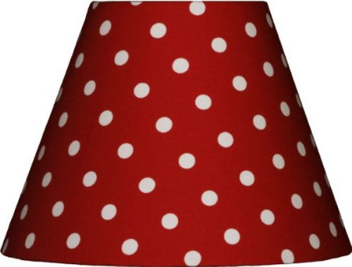 Lieblingslampen Lampenschirm rot mit weißen Punkten für E14 Fassung