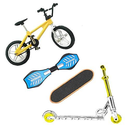 TOPofly Finger Deportes Juguetes Set Mini Scooter Skateboards Bicicletas oscilación Junta Juego de Cerebro de Fiesta de Navidad de los niños