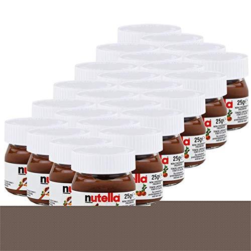 Ferrero Nutella Kleines Mini Design Glas 24er Set a 25g, Brotaufstrich, Nussnugatcreme, Schokoladen Auftrich