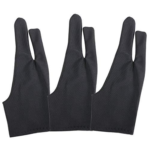 3 Pack Artiesten Tablet Drawing Handschoenen voor Tekenen of andere