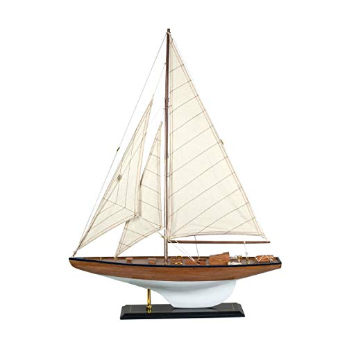 Vidal Regalos Figura Decorativa Barco Velero Madera Adorno Maqueta Miniatura Vela 70 cm