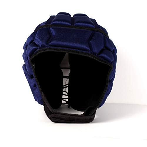 BARNETT Heat PRO Rugby Helm, Spielhelm Profi, Farbe Marineblau (S)