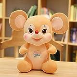 超かわいいぬいぐるみ漫画マウスカップルラットぬいぐるみ人形誕生日クリスマスギフト オレンジ 40cm