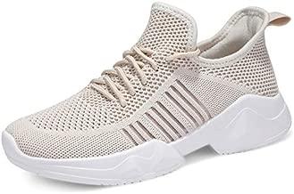 UUBARIS Women Running Hiking Cheap Tennis Sneaker Comfortable Sneaker for Women Beige Size 9