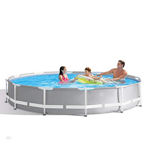 AXHSYZM Metal Frame Pool Above Ground Family Swimming Pool Frame Structure Pool Easy Set 30576cm