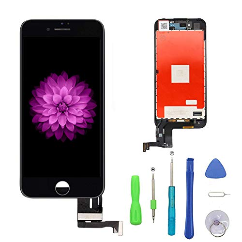 FFtopu Compatible with iPhone 7 Plus Screen Replacement Black(5.5''), LCD Display & Touch Screen Digitizer Frame Assembly Set with 3D Touch Free Repair Tools