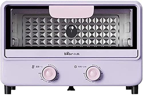 Horno eléctrico, horno de tostadora Hornear de gran capacidad 11L Barbacoa integrada Mini horno automático de multifunción con ajuste de temperatura 30-230 ℃ y 60 mins Temporizador Air Freidora