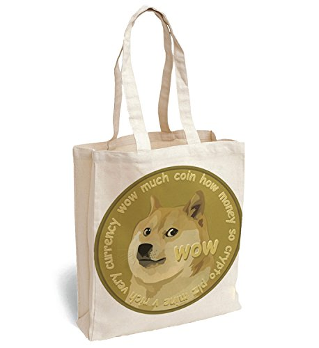 MyMerchandise Doge Dogecoin Cryptocurrency Canva Bag Tote Handbag Shoulder Bag Sports Leisure Picnic