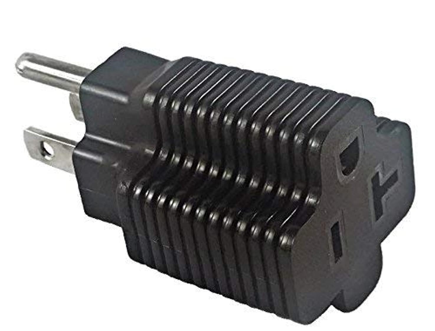 5-15P to 5-20R Power Cord Plug Adapter, 15A Plug to 20A Connector, 125V - Iron Box IBX-515520