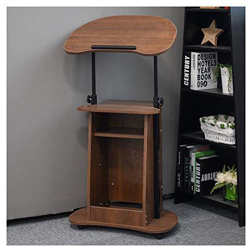 XIAOLIN Mobile Lifting Laptop Desk Stand Portátil Carreta Bandeja Compacto Ajustable Estación De Trabajo Estación De Trabajo De La Oficina De La Oficina De La Oficina(Color:B)
