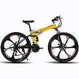 ASPZQ Bicicleta De Montaña Plegable, Cómodo Móvil Portátil Compacto Liviano Plegable Bicicleta para Adultos Estudiante De La Bicicleta Ligera,D,24 Inches