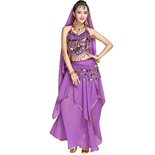 TianBin Mujer Danza del Vientre Trajes Indian Dance Conjunto