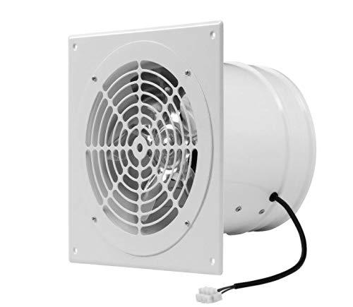 Weiß Ø 250mm Rohrlüfter Wand Radiallüfter Ventilator Wandflansch Zu-Abluft, Metall