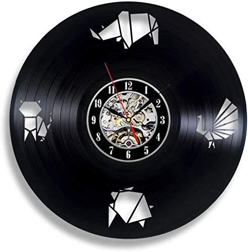 Wanduhr mit Origami-Muster Vinyl